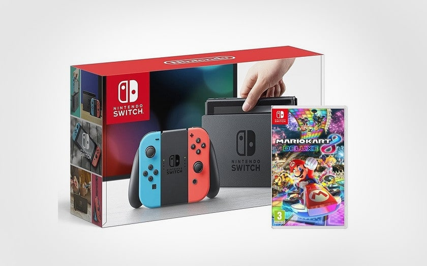 nintendo Switch + mario kart 8 deluxe amazon french days