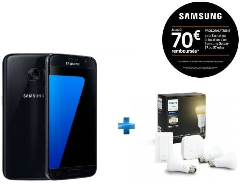Samsung Galaxy S7 avec pack Philips White Ambiance moins cher