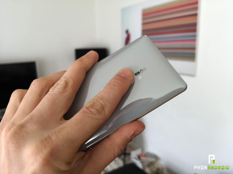 test sony xperia xz2 lecteur empreintes positionnement