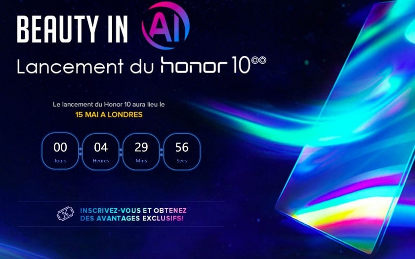 30 euros de reduction lancement honor 10