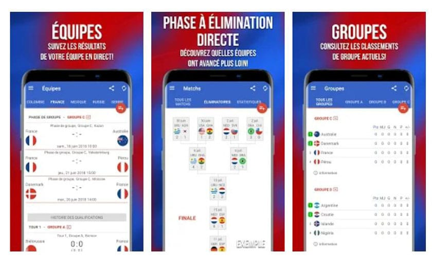 android appli coupe monde
