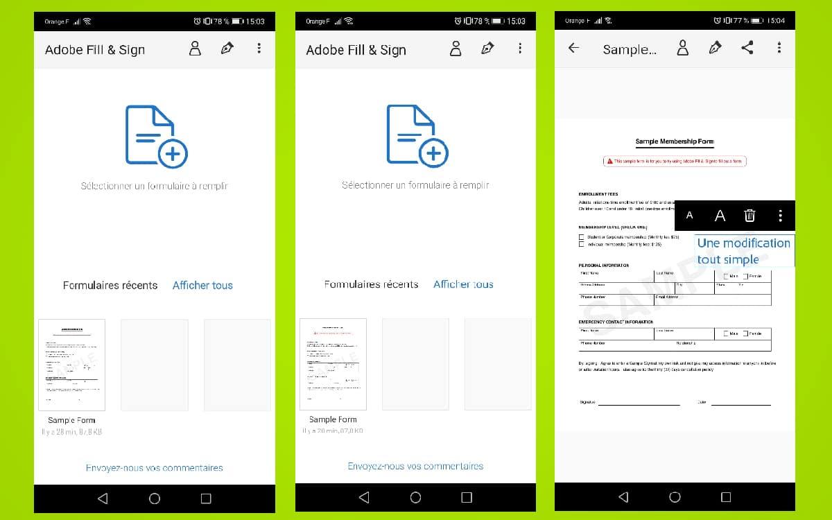Modification PDF Android