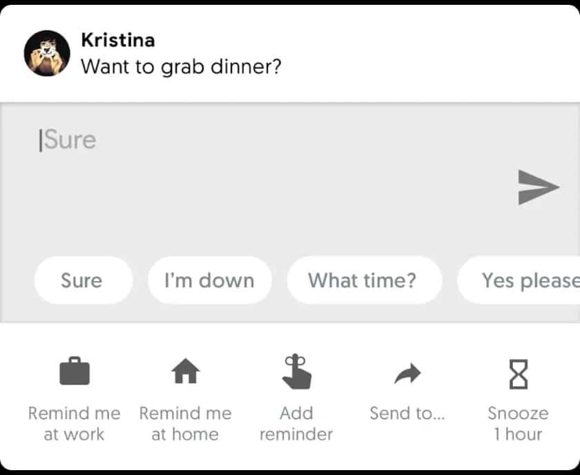 android p notifications
