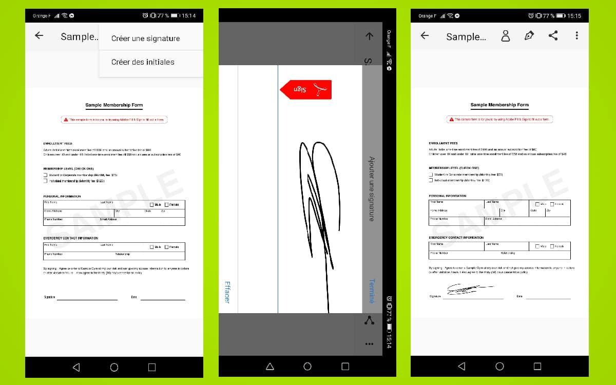 Signature PDF Android