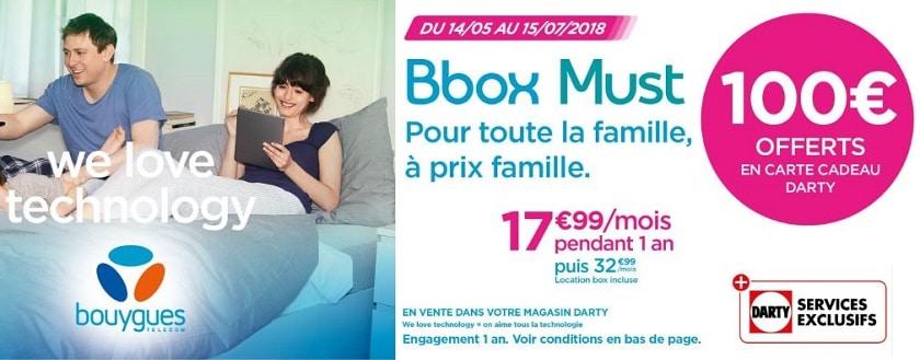 100 euros offerts carte cadeau darty pour toute nouvelle souscription a une offre bbox