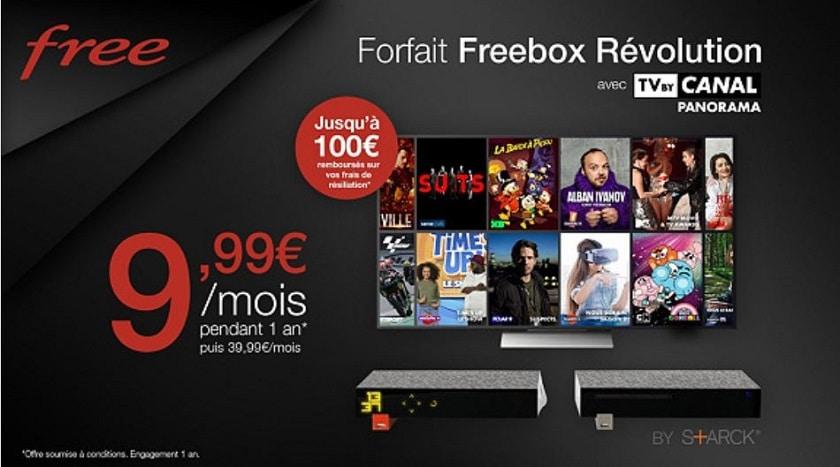 Vente privée Freebox Revolution avec option TV By Canal Panorama