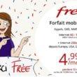 vente privée free mobile forfait 100 go à 4.99 € / mois pendant 1 an
