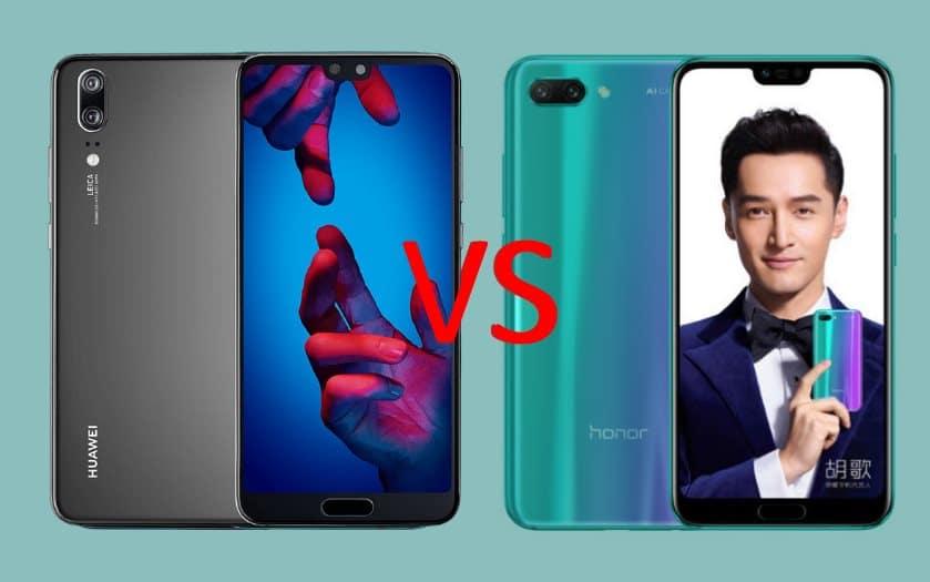 Using Honour Vs Honor: Honor 10 Vs Huawei P20 : Lequel Est Le Meilleur