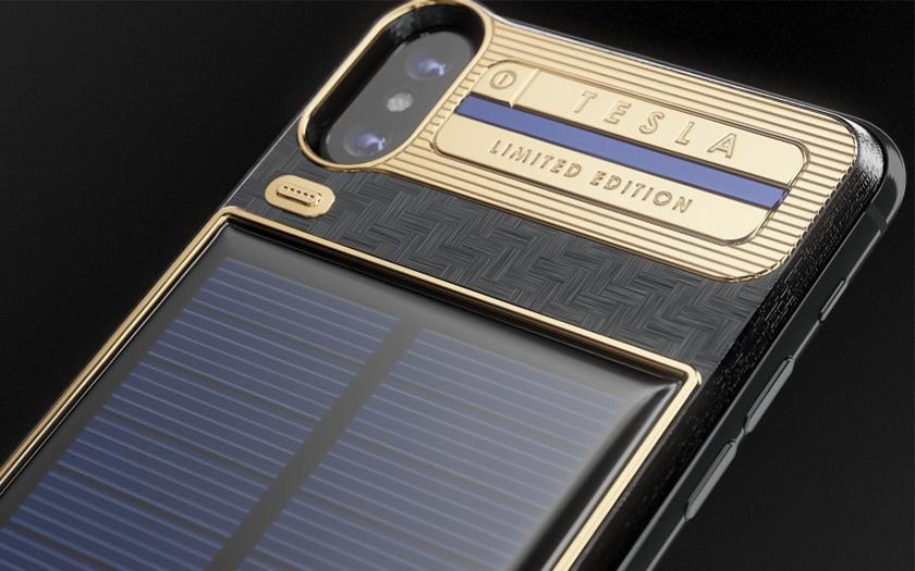 l 39 iphone x tesla dot d 39 un panneau solaire ne co te que. Black Bedroom Furniture Sets. Home Design Ideas