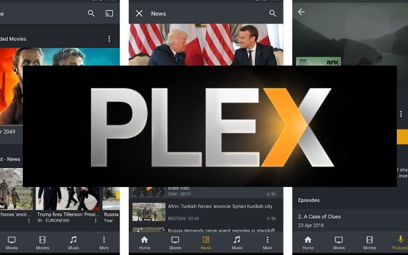 plex android interface