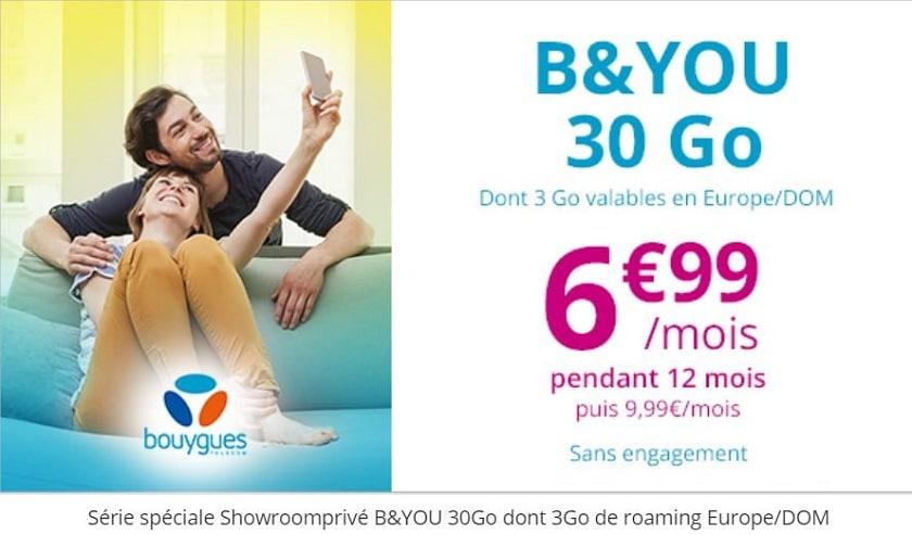 serie speciale b&you forfait 30 Go à 6.99 € / mois