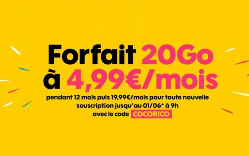 forfait sosh 20 go à 4.99 € / mois