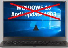 windows 10 april update bloque ssd