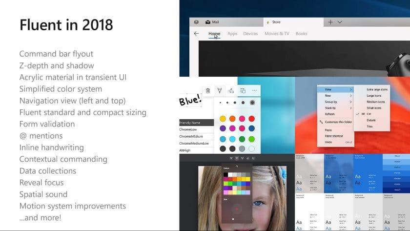windows 10 fluent design nouveaute