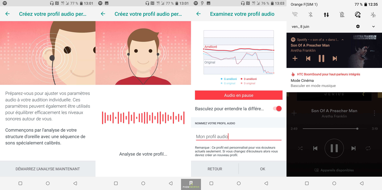 HTC U12+ audio