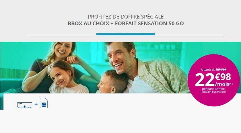bbox + forfait sensation