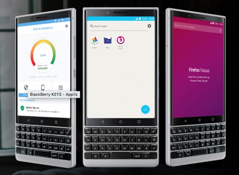 blackberry key2 securite