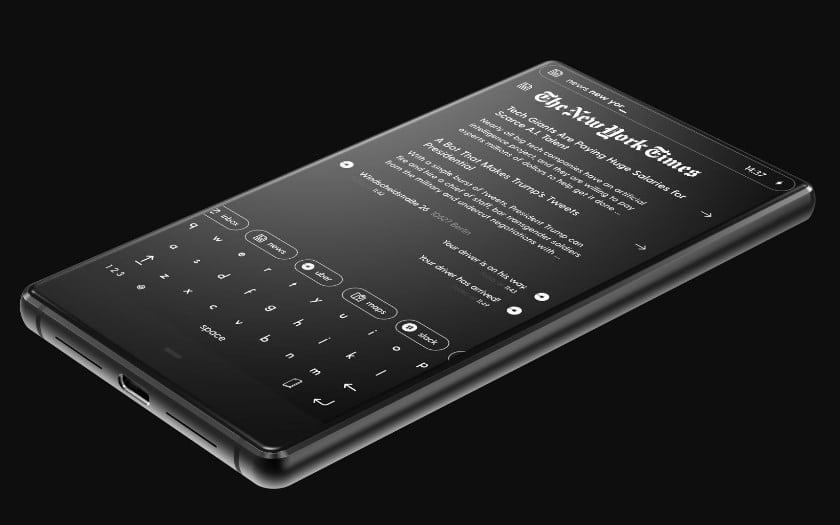 blloc phone android ecran noir blanc