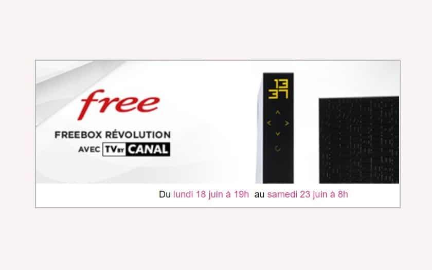 nouvelle vente privee freebox revolution juin 2018