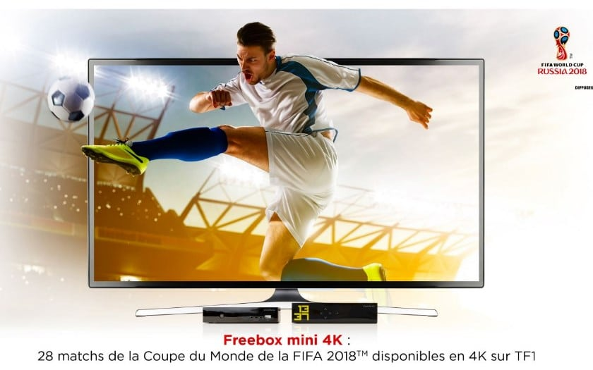 freebox mini 4K coupe du monde