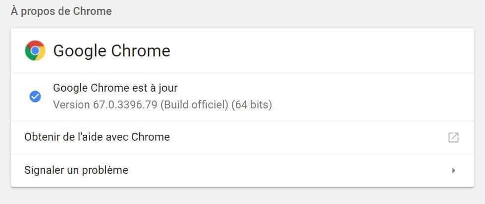google chrome maj