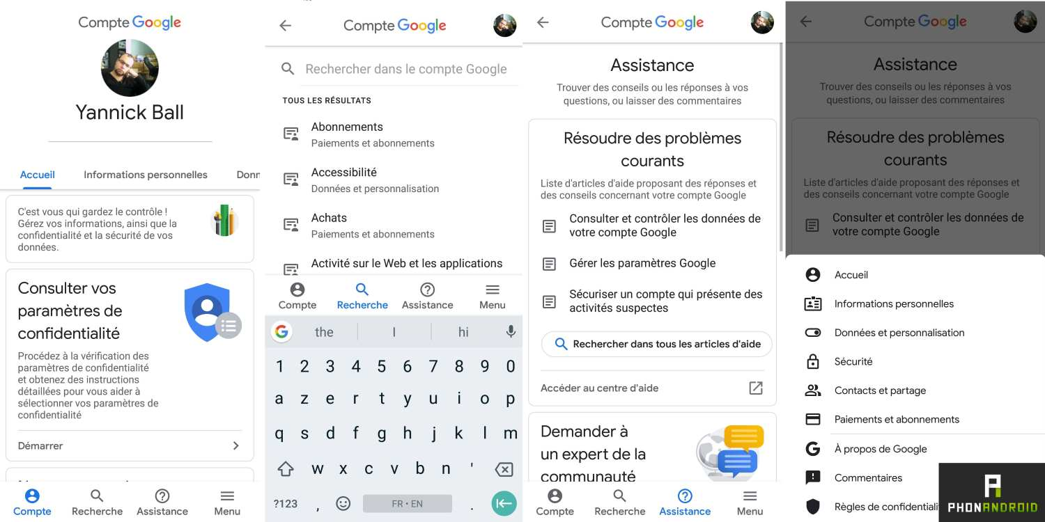 google compte android