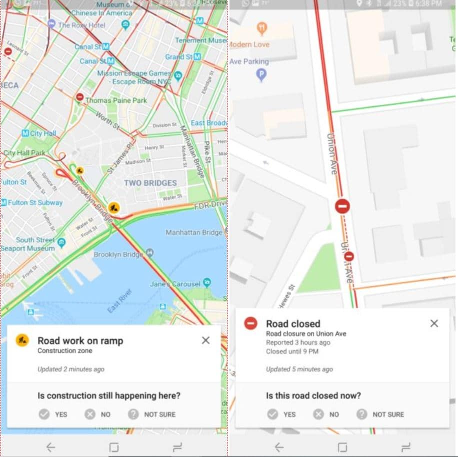 google maps waze radars accidents