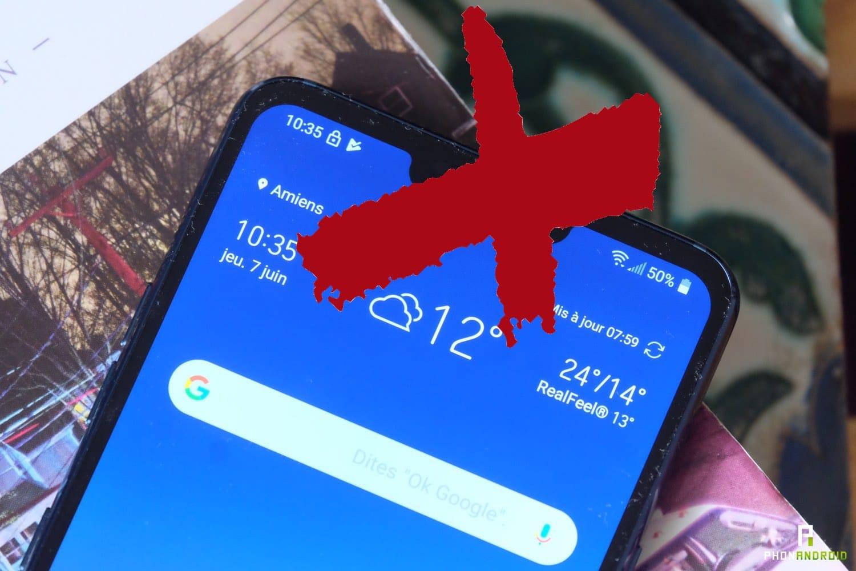 guide achat smartphone sans encoche