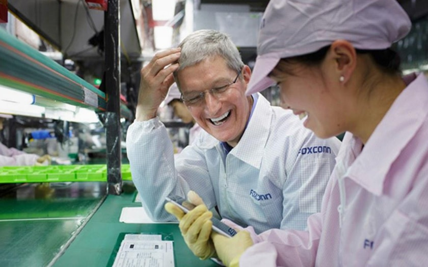 iphone chine Tim cook