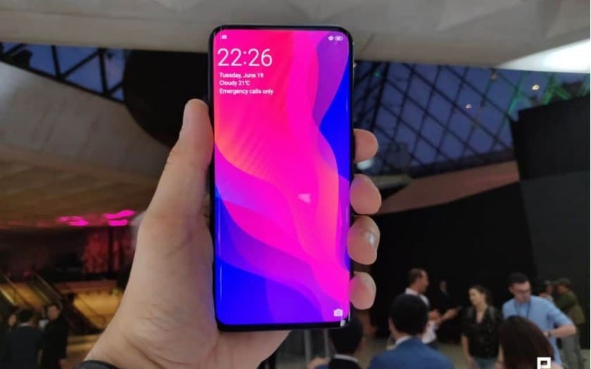 oppo find x galaxy s9 ecran