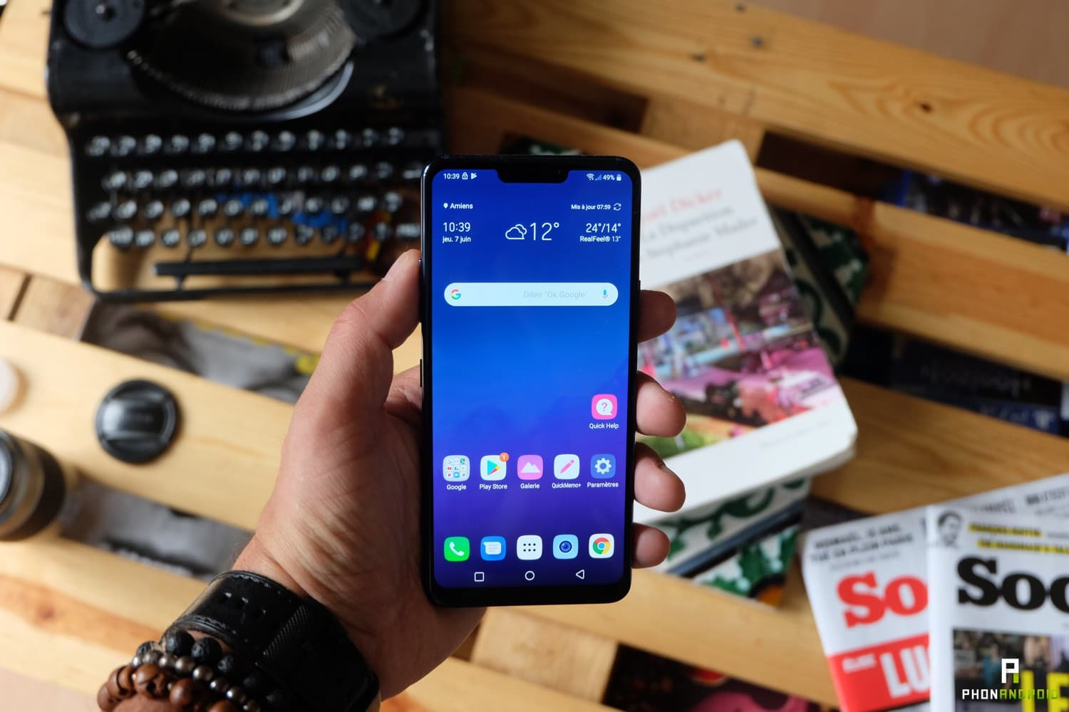 review lg g7 thinq ecran