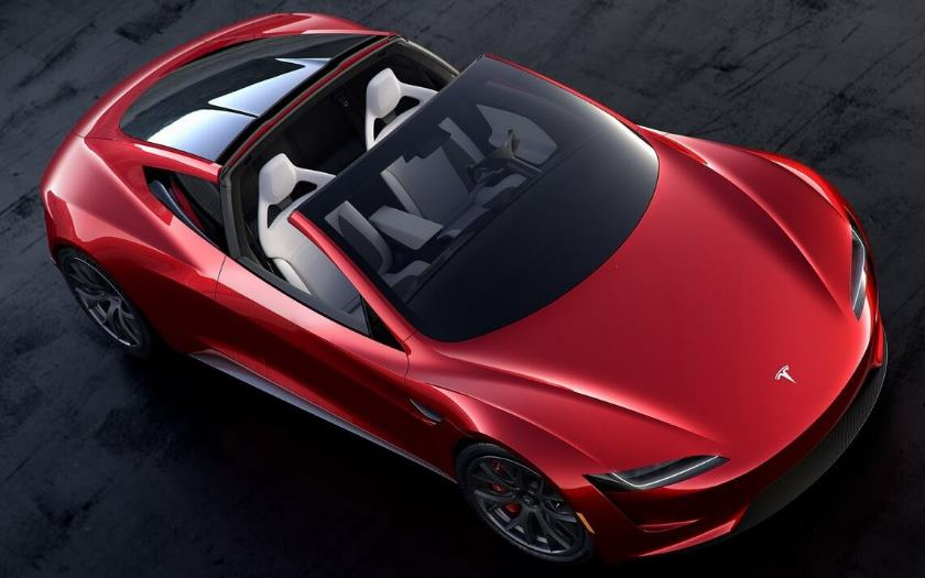 tesla roadster mini fusees