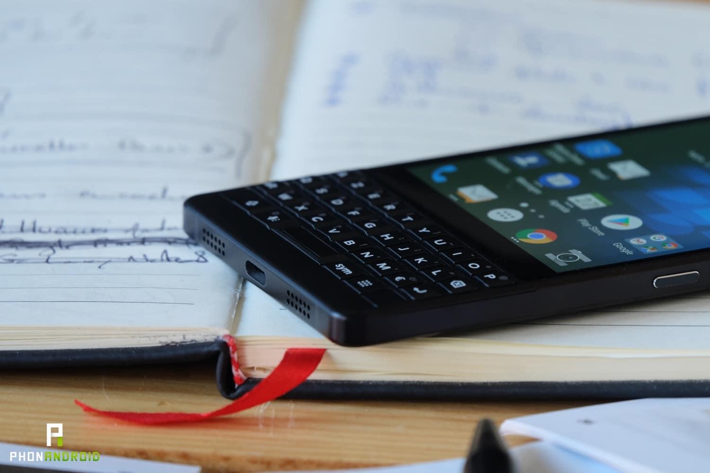 test blackberry key2 autonomie