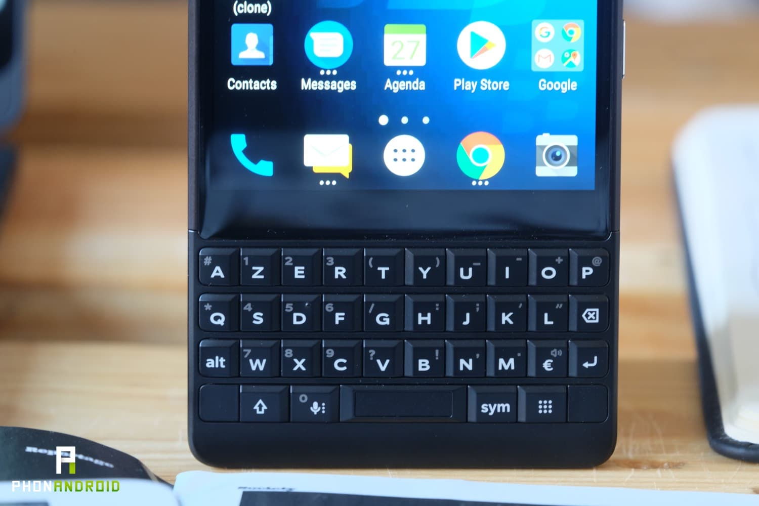 test blackberry key2 clavier physique