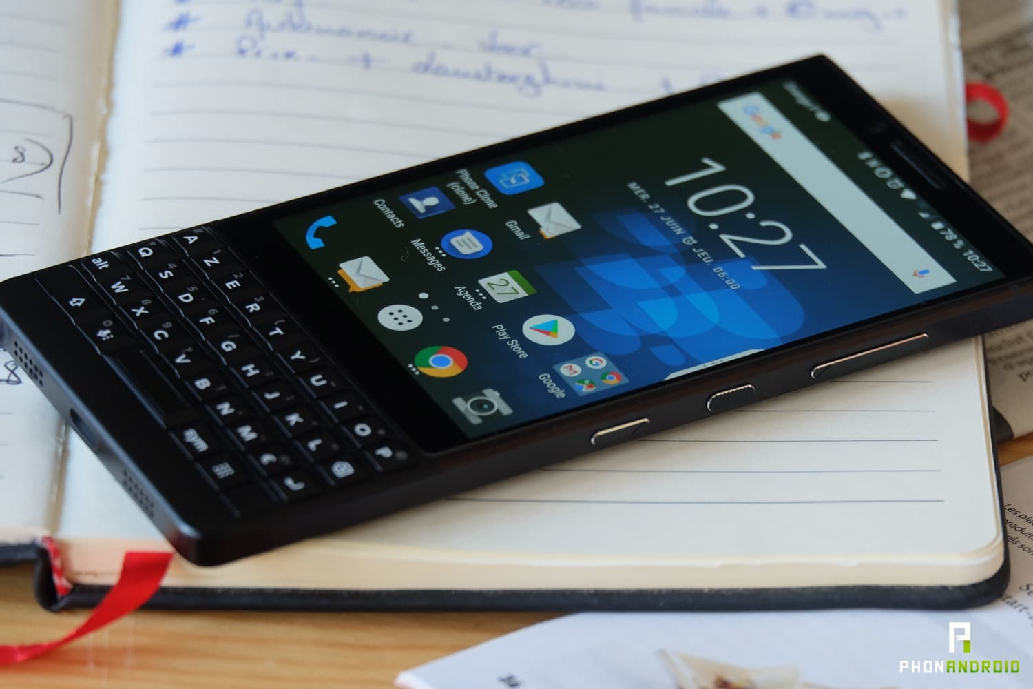 test blackberry key2 ecran