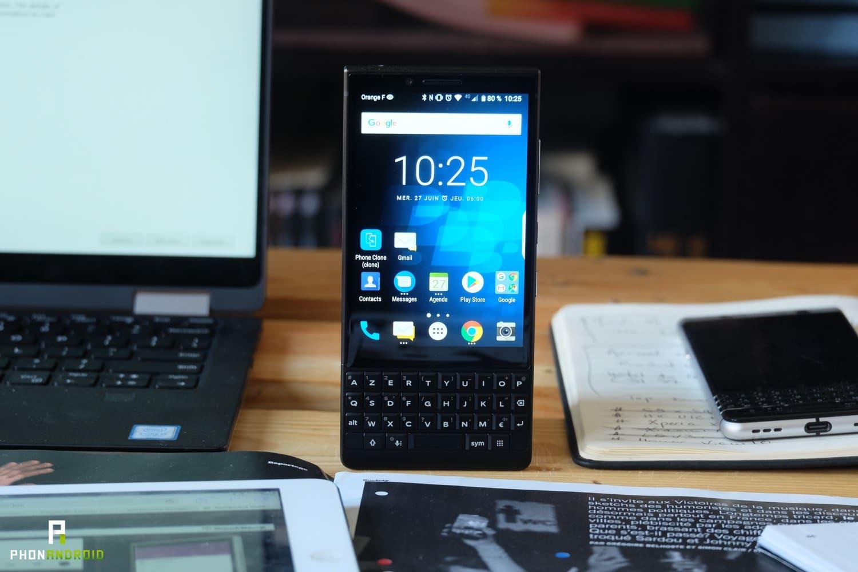 test blackberry key2 prix