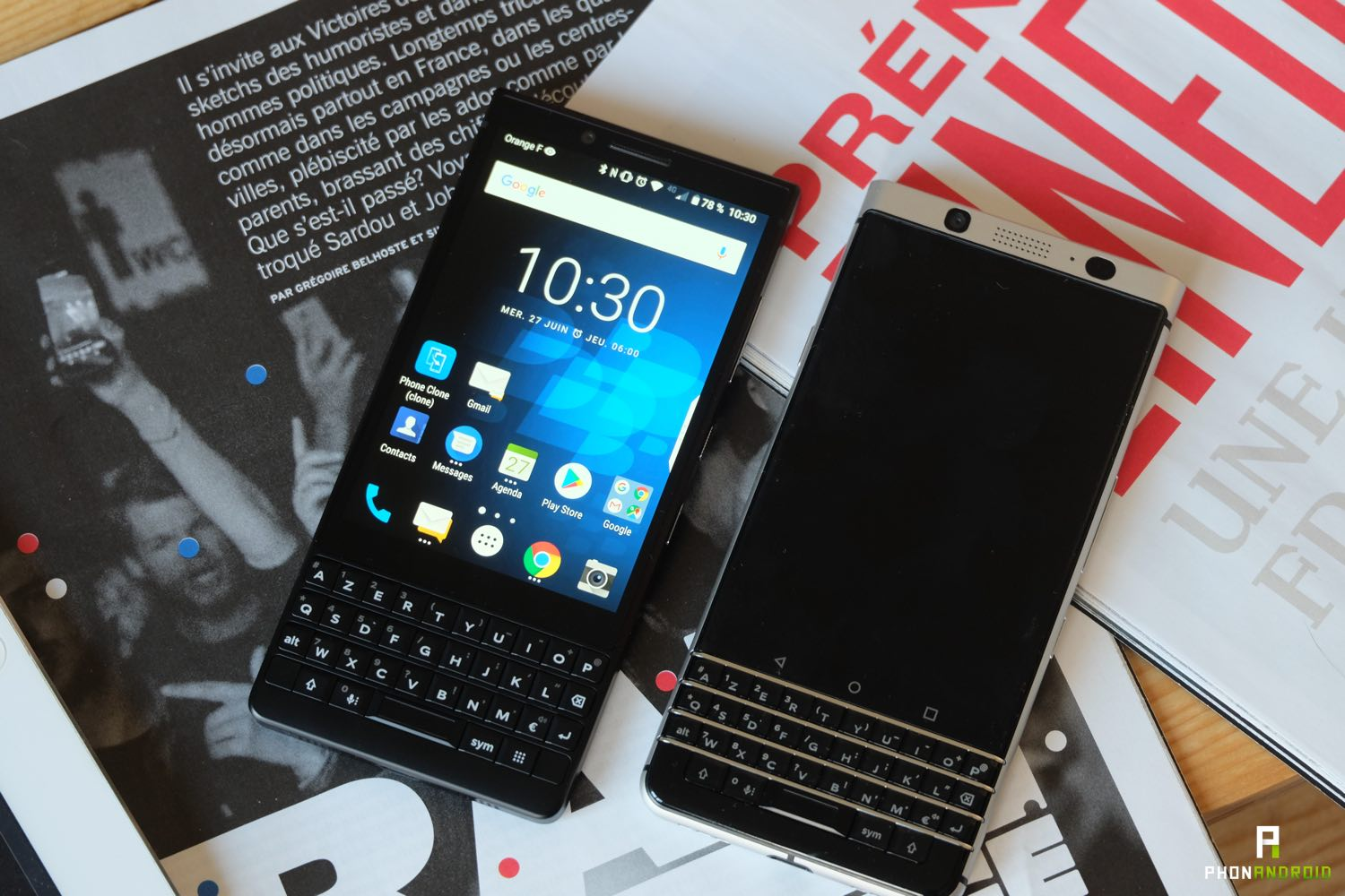 test blackberry key2 vs keyone design