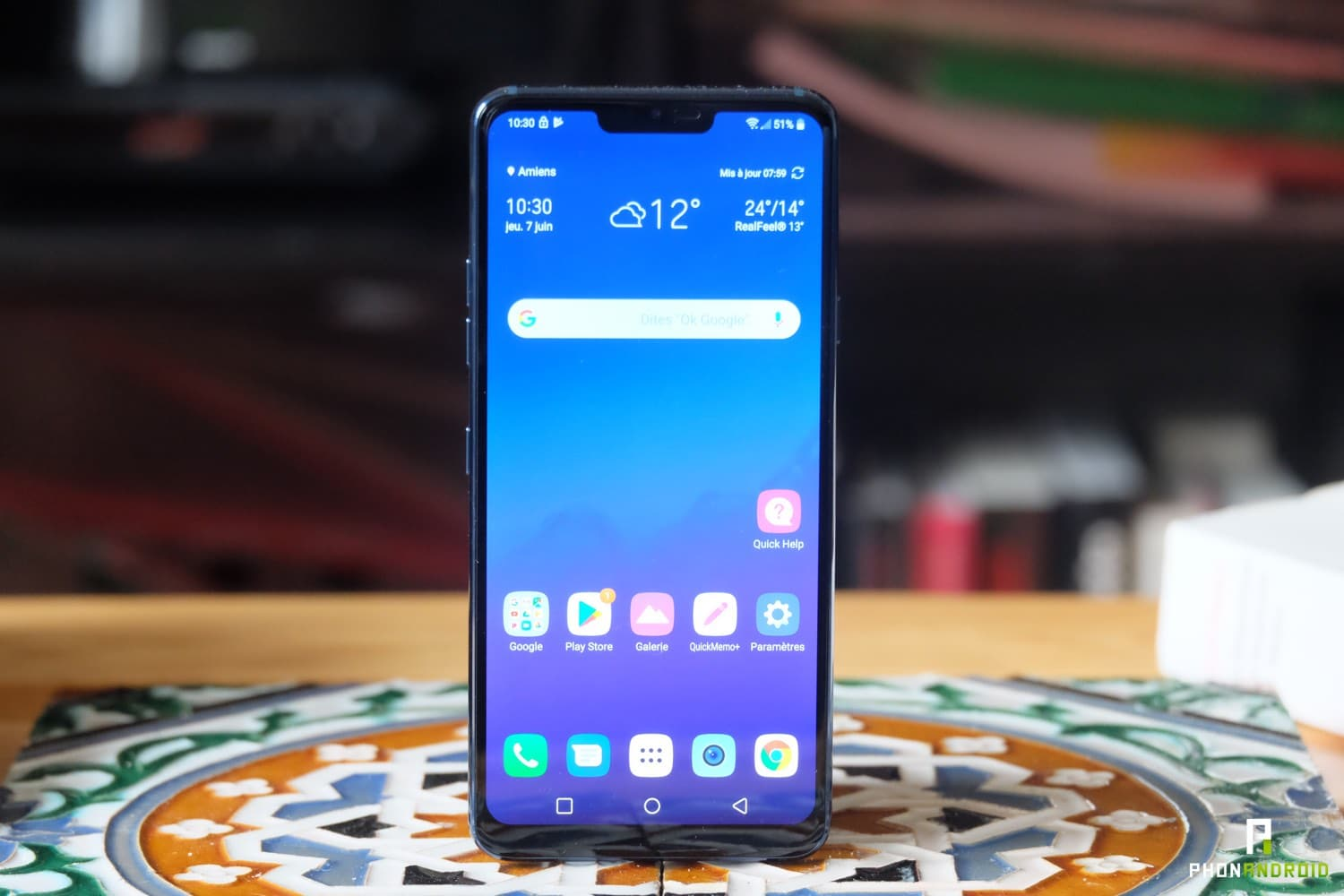 test lg g7 thinq ecran