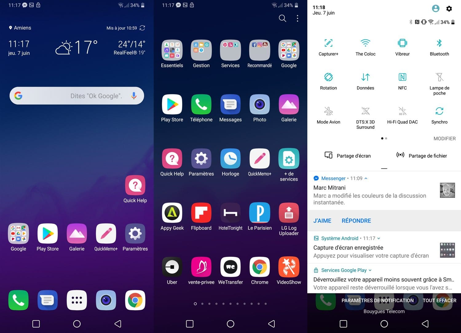 test lg g7 thinq interface android