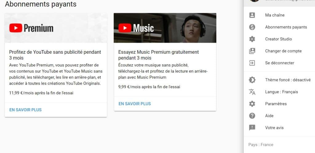 youtube music essai gratuit