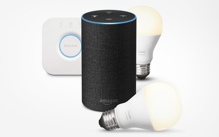 Enceinte Amazon Echo avec kit Hue Philips