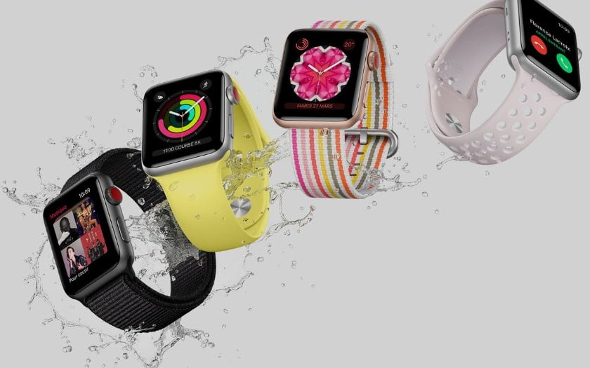 apple watch part marche