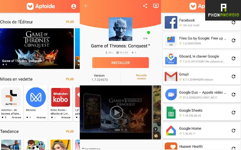 aptoide google concurrence