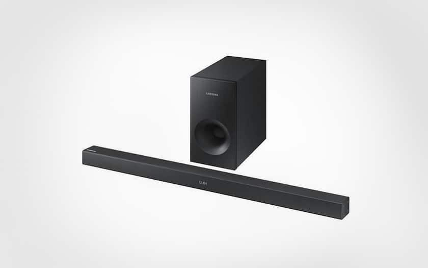 Barre de son Bluetooth 2.1 Samsung HW-J355 + caisson de basses à 69,99 €