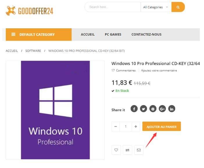 Goodoffer24 Windows 10 Professionnal