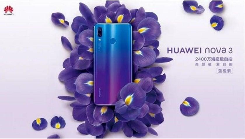 huawei nova 3 officiel