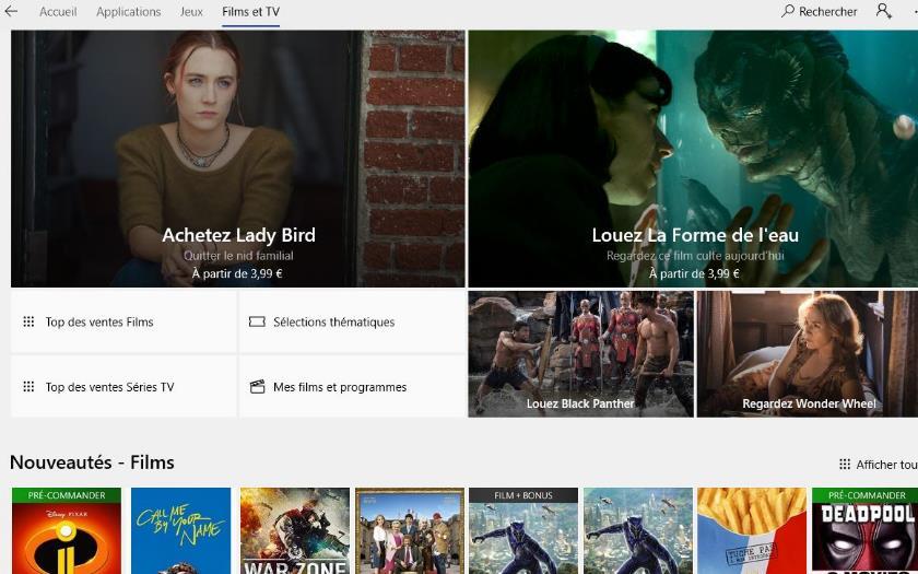 microsoft vod films itunes google