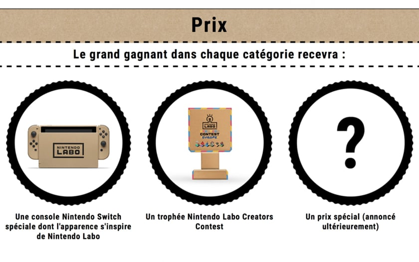 Nintendo switch concours labo