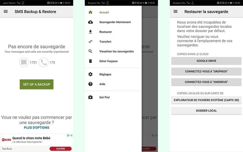 android comment sauvegarder ses sms sur pc. Black Bedroom Furniture Sets. Home Design Ideas