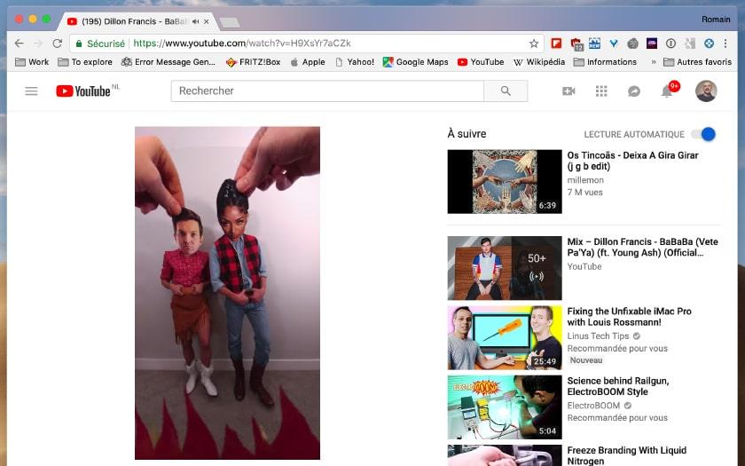 youtube video verticale bandes noires